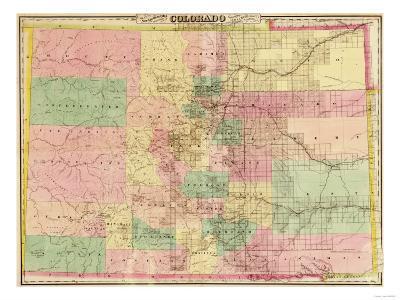 Colorado Map Art.Colorado Panoramic Map Art Print By Lantern Press Art Com