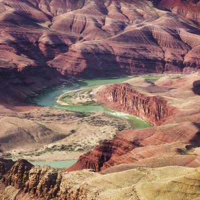 Colorado River as Seen from the Lipan Point, Grand Canyon National Park, Arizona, Usa-Rainer Mirau-Photographic Print