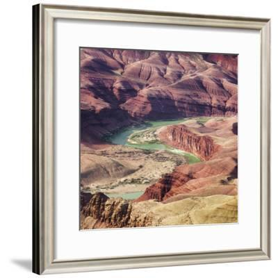 Colorado River as Seen from the Lipan Point, Grand Canyon National Park, Arizona, Usa-Rainer Mirau-Framed Photographic Print