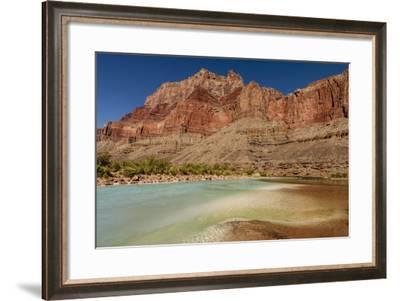 Colorado River. Calcium Carbonate Colors. Grand Canyon. Arizona-Tom Norring-Framed Photographic Print