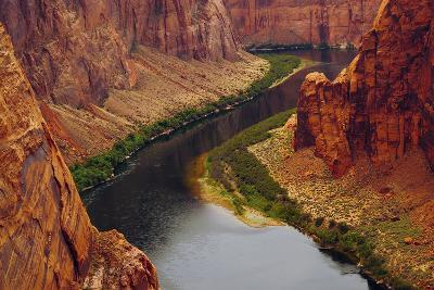 Colorado River from Page, Arizona Overlook, USA-Michel Hersen-Photographic Print