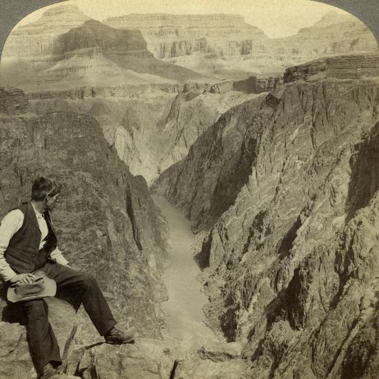 Colorado River, Grand Canyon, Arizona, USA-Underwood & Underwood-Photographic Print