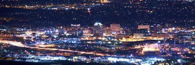 Colorado Springs at Night-duallogic-Photographic Print