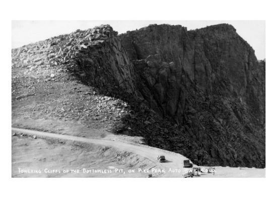 Colorado Springs, Colorado - Pikes Peak Hwy; Cliffs of the Bottomless Pit-Lantern Press-Art Print