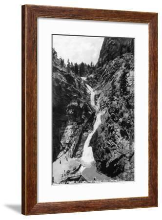 Colorado Springs, Colorado - View of Seven Falls in the South Cheyenne Canyon, c.1951-Lantern Press-Framed Art Print