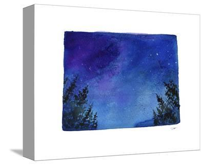 Colorado State Watercolor-Jessica Durrant-Stretched Canvas Print