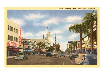 Colorado Street, Pasadena, California--Art Print