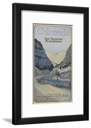 Colorado - The Nation's Playground-Lantern Press-Framed Art Print