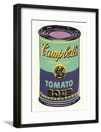 Colored Campbell's Soup Can, 1965 (green & purple)-Andy Warhol-Framed Art Print