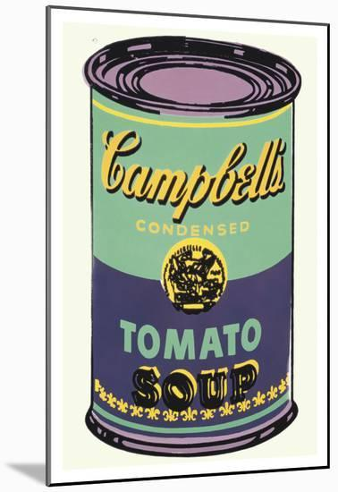 Colored Campbell's Soup Can, 1965 (green & purple)-Andy Warhol-Mounted Art Print
