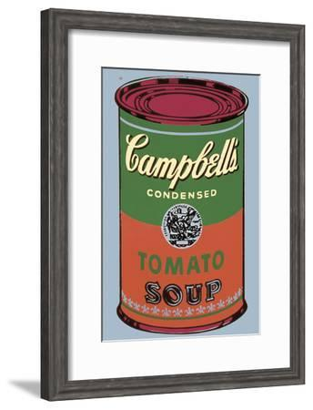 Colored Campbell's Soup Can, 1965 (green & red)-Andy Warhol-Framed Art Print