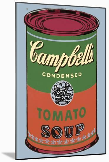 Colored Campbell's Soup Can, 1965 (green & red)-Andy Warhol-Mounted Art Print