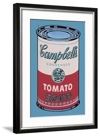 Colored Campbell's Soup Can, 1965 (pink & red)-Andy Warhol-Framed Art Print