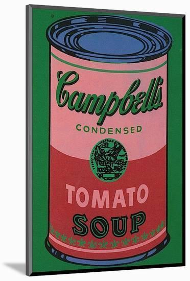 Colored Campbell's Soup Can, c.1965 (red & green)-Andy Warhol-Mounted Art Print