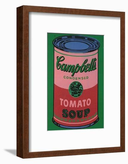 Colored Campbell's Soup Can, c.1965 (red & green)-Andy Warhol-Framed Art Print