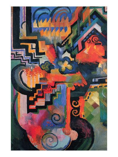 Colored Composition (Homage À Sebastian Johann Bach)-Auguste Macke-Art Print