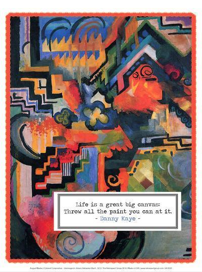Colored Composition - Hommage to Johann Sebastian Bach, 1912-Auguste Macke-Art Print