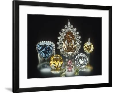 Colored Diamonds--Framed Photographic Print