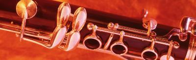 Colored Lights, Close-up of a Clarinet--Photographic Print