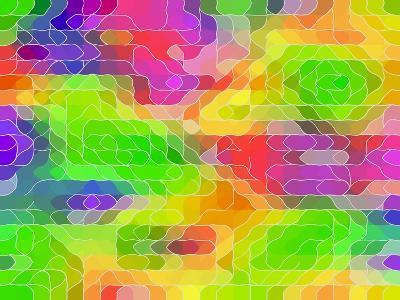 Colored Line Blobs-Ruth Palmer-Art Print