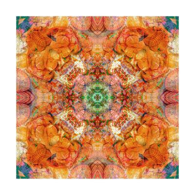 Colored Seaworld Mandala No 1-Alaya Gadeh-Art Print