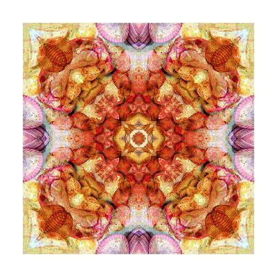 Colored Seaworld Mandala No 2-Alaya Gadeh-Art Print
