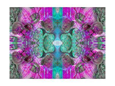 Colored Seaworld Ornament VI-Alaya Gadeh-Art Print
