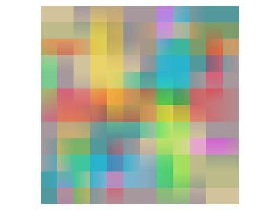 Colored Squares Background--Art Print