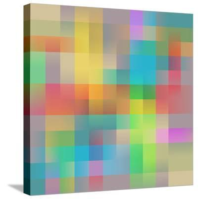 Colored Squares Background--Stretched Canvas Print