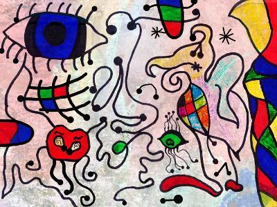 Colorful Abstract Art Painting by a Ten Years Old Child-Alexey Kuznetsov-Art Print