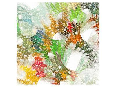 Colorful Abstract Lattice--Art Print