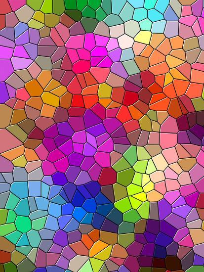 Colorful Abstract Mosaic Style Art Print By Wonderful Dream Art Com