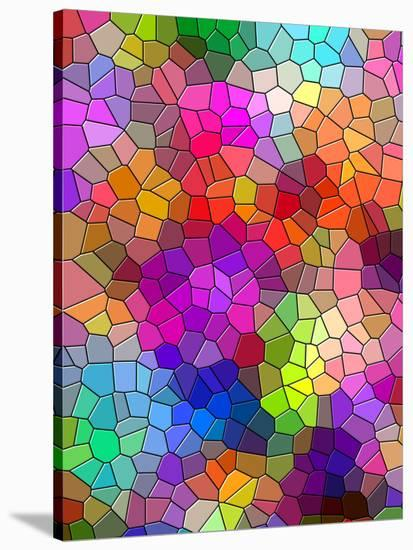 Colorful Abstract Mosaic Style Stretched Canvas Print By Wonderful Dream Art Com