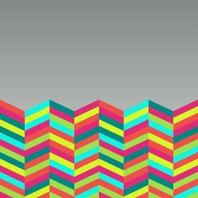 Colorful Abstract Retro Pattern-cienpies-Art Print