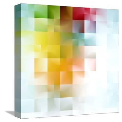 Colorful Abstract Shapes--Stretched Canvas Print