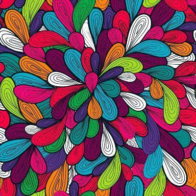 Colorful Abstract Texture-Lola Tsvetaeva-Art Print