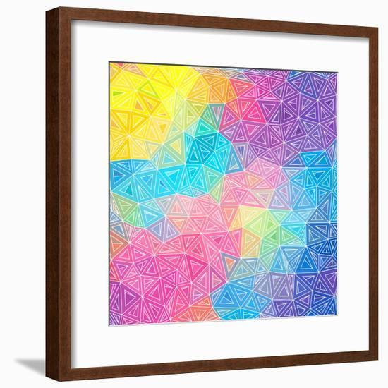 Colorful Abstract Triangles-art_of_sun-Framed Premium Giclee Print