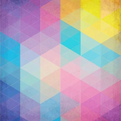 Colorful Abstract Triangles-art_of_sun-Art Print