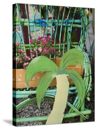Colorful Art Gallery Details, Pine Island, Florida, USA-Walter Bibikow-Stretched Canvas Print