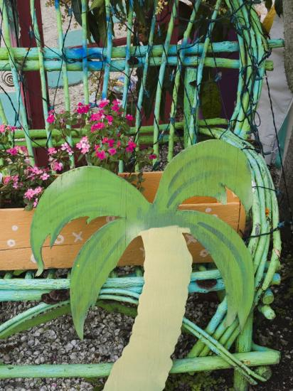 Colorful Art Gallery Details, Pine Island, Florida, USA-Walter Bibikow-Photographic Print