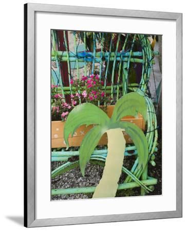Colorful Art Gallery Details, Pine Island, Florida, USA-Walter Bibikow-Framed Photographic Print