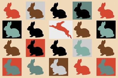 Colorful-Baby-Rabbits 10000-Mark Ashkenazi-Giclee Print