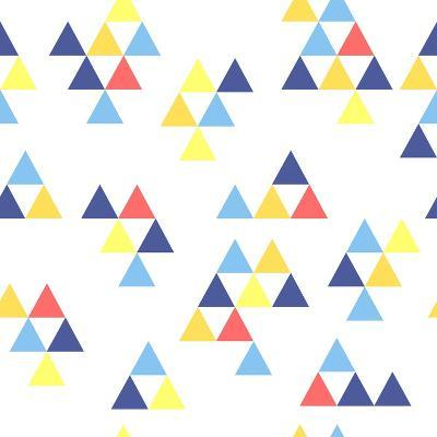 Colorful Background. Background with Colored Triangles. Colorful Abstract Pattern. Geometric Patter-Anastasiya Stalmahova-Art Print