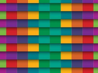 Colorful Background With Horizontal Lines-maxmitzu-Art Print