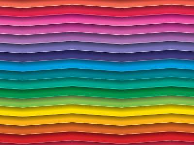 Colorful Background With Horizontal Wave Lines-maxmitzu-Art Print