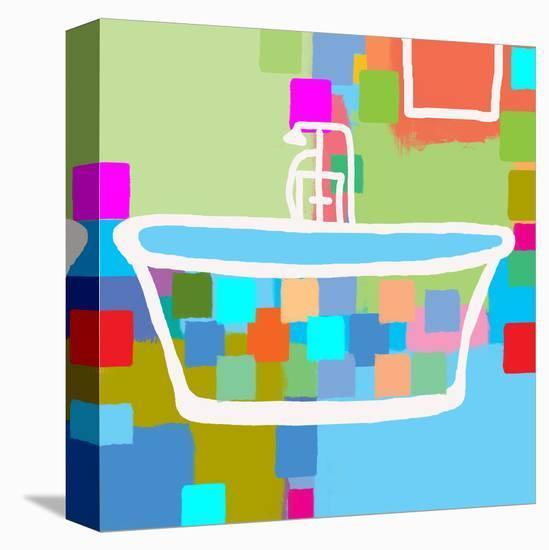 Colorful Bath II Stretched Canvas Print by Yashna | Art com