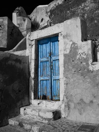 Colorful Blue Door, Oia, Santorini, Greece-Darrell Gulin-Photographic Print