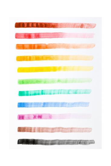 Colorful Brush Strokes Handmade-fify-Art Print