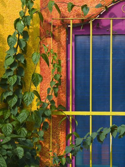 Colorful Building Detail, Barra De Navidad, Jalisco, Mexico-Walter Bibikow-Photographic Print