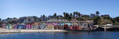 Colorful Buildings and Beach in Capitola, Santa Cruz County, California, USA--Photographic Print